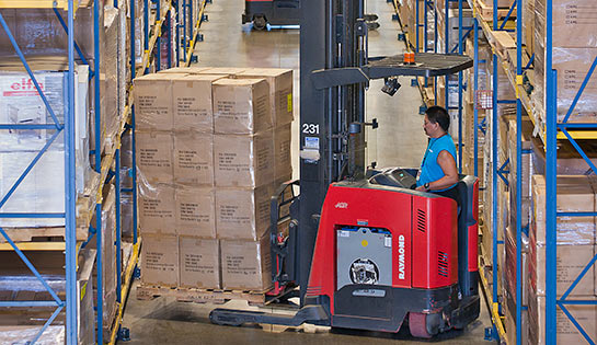The Container Store, Malin, Raymond forklifts, Reach truck