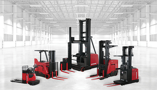 Raymond Forklift Truck Family in Warehouse